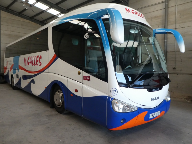 Autocares Calles, servicio de transporte