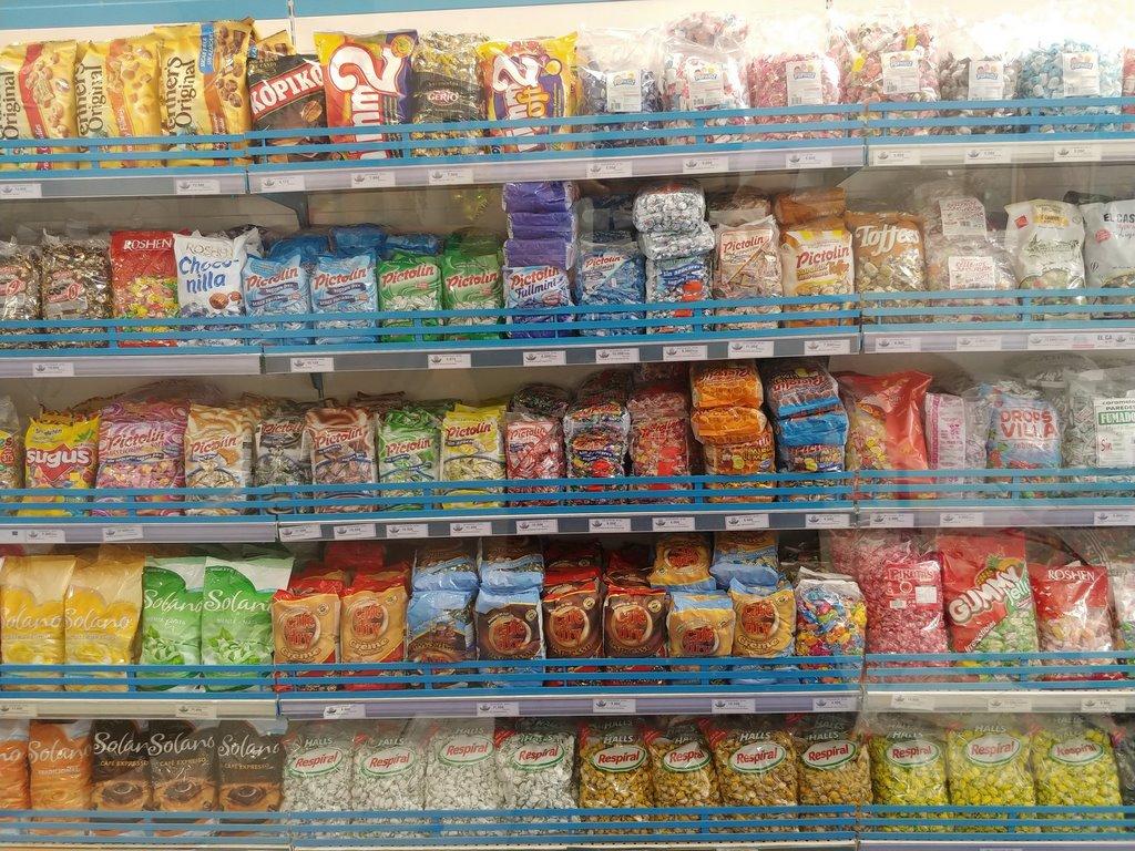 Casa Palomares, Patatas fritas, Encurtidos, Gominolas, Frutos Secos, Caramelos
