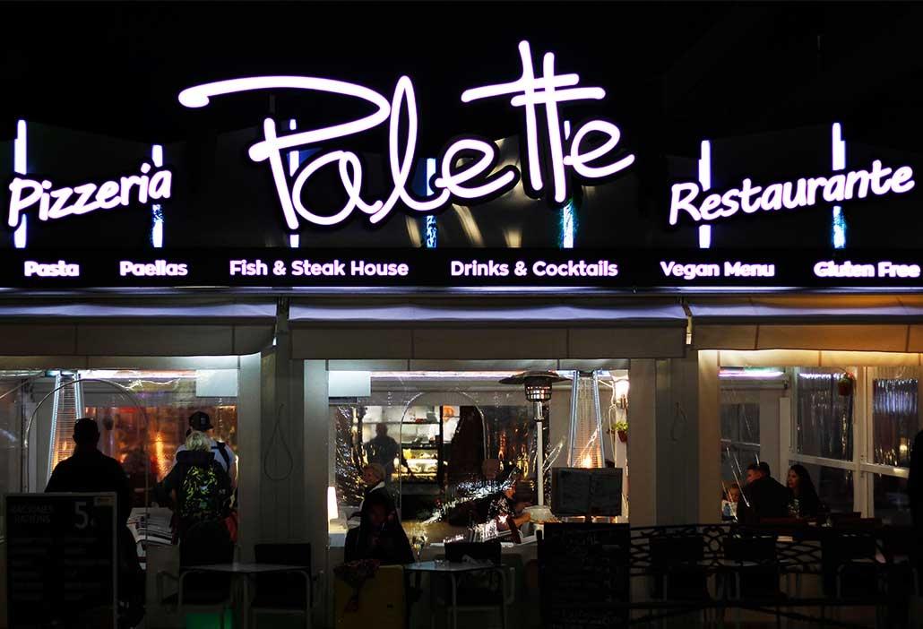Restaurante, Pizzeria Palette