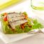 Receta de aguacate con pipirrana y sardinillas en aceite de oliva